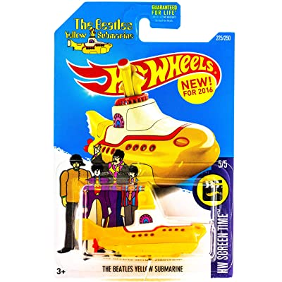 Hot Wheels 2016 HW Screen Time No. 225/250 1:64 Scaled The Beatles Yellow Submarine: Toys & Games