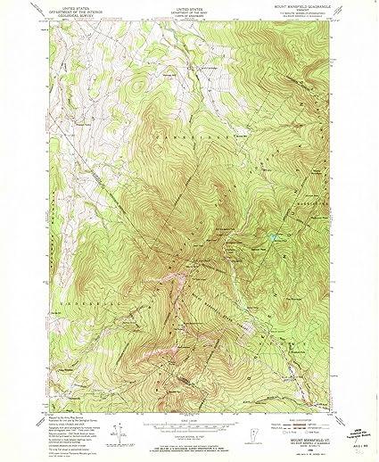 Amazon.com: Vermont Maps | 1948 Mount Mansfield, VT USGS Historical ...
