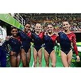 Women's Gymnastics Olympic Team USA Biles Raisman Douglas Hernandez Sports Poster Photo Limited Print Sexy Celebrity Athlete Size 8x10 #1