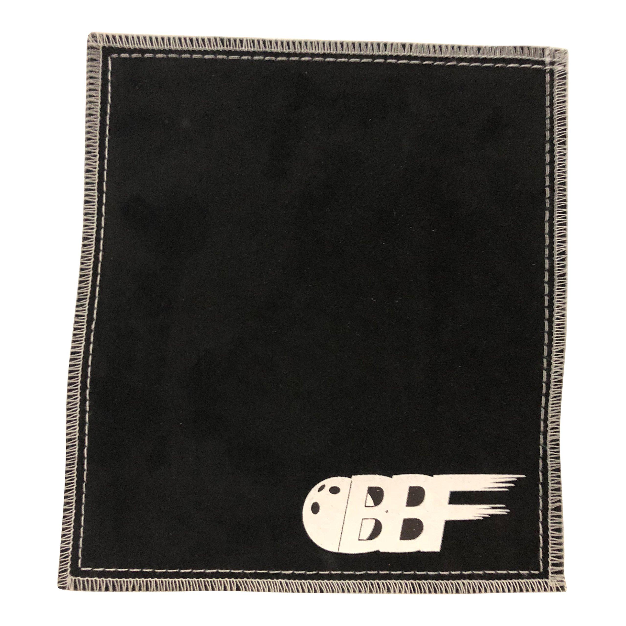 bowlingballfactory.com Ultra Tac Double Sided Black Leather Bowling Ball Shammy Pad Towel