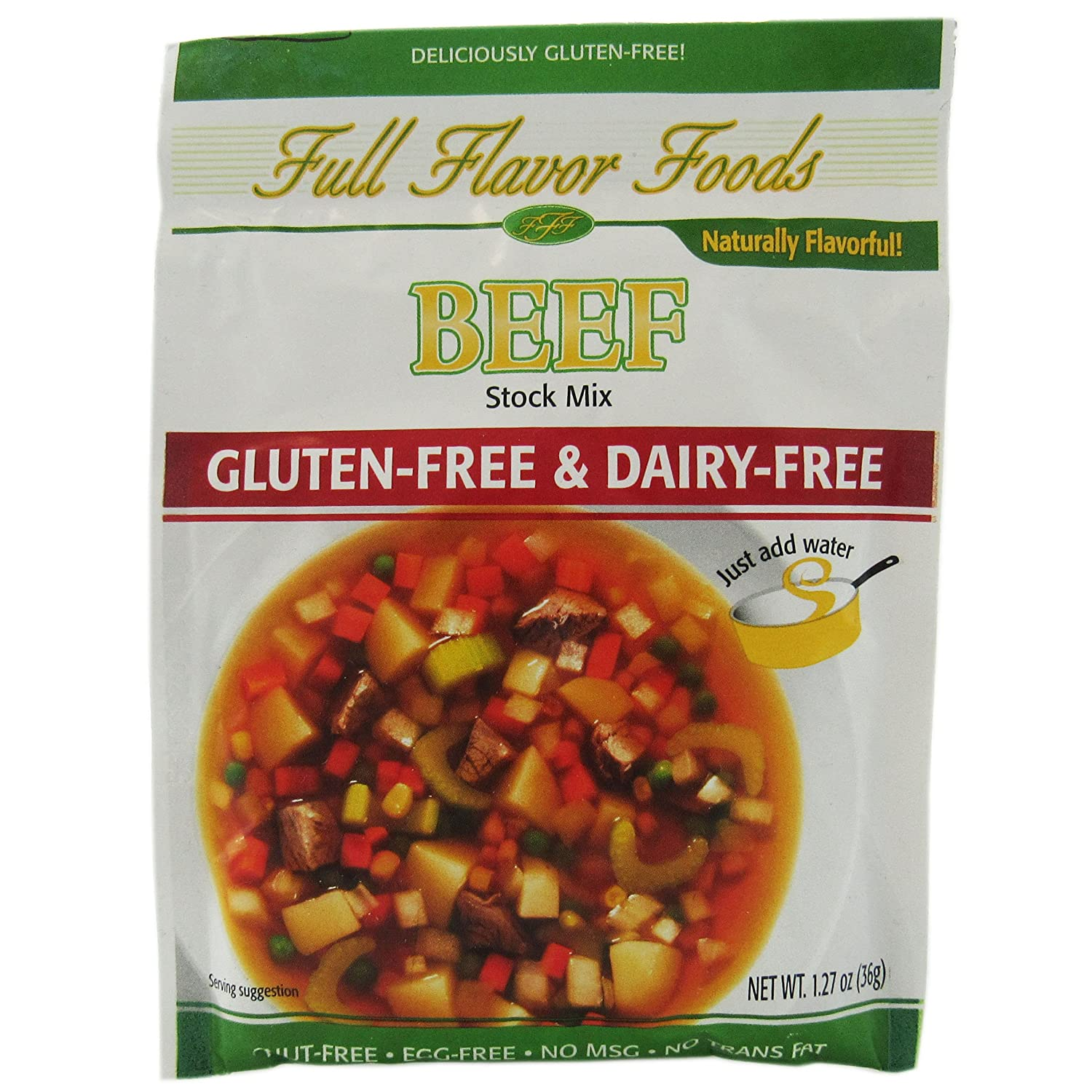 Full Flavor Foods - Gluten Free Creamy Mushroom Soup & Sauce Mix (2.65 oz Packets) - Pack of 10: Amazon.com: Grocery & Gourmet Food