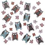 Ginger Ray Owl tableau Parti Confetti - hibou de patchwork