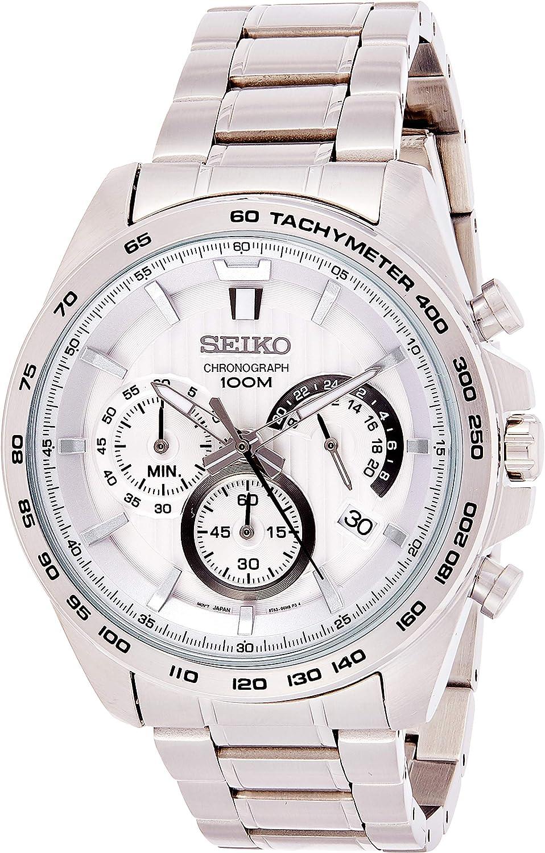 Seiko Reloj Cronógrafo para Hombre de Cuarzo con Correa en Acero Inoxidable SSB297P1