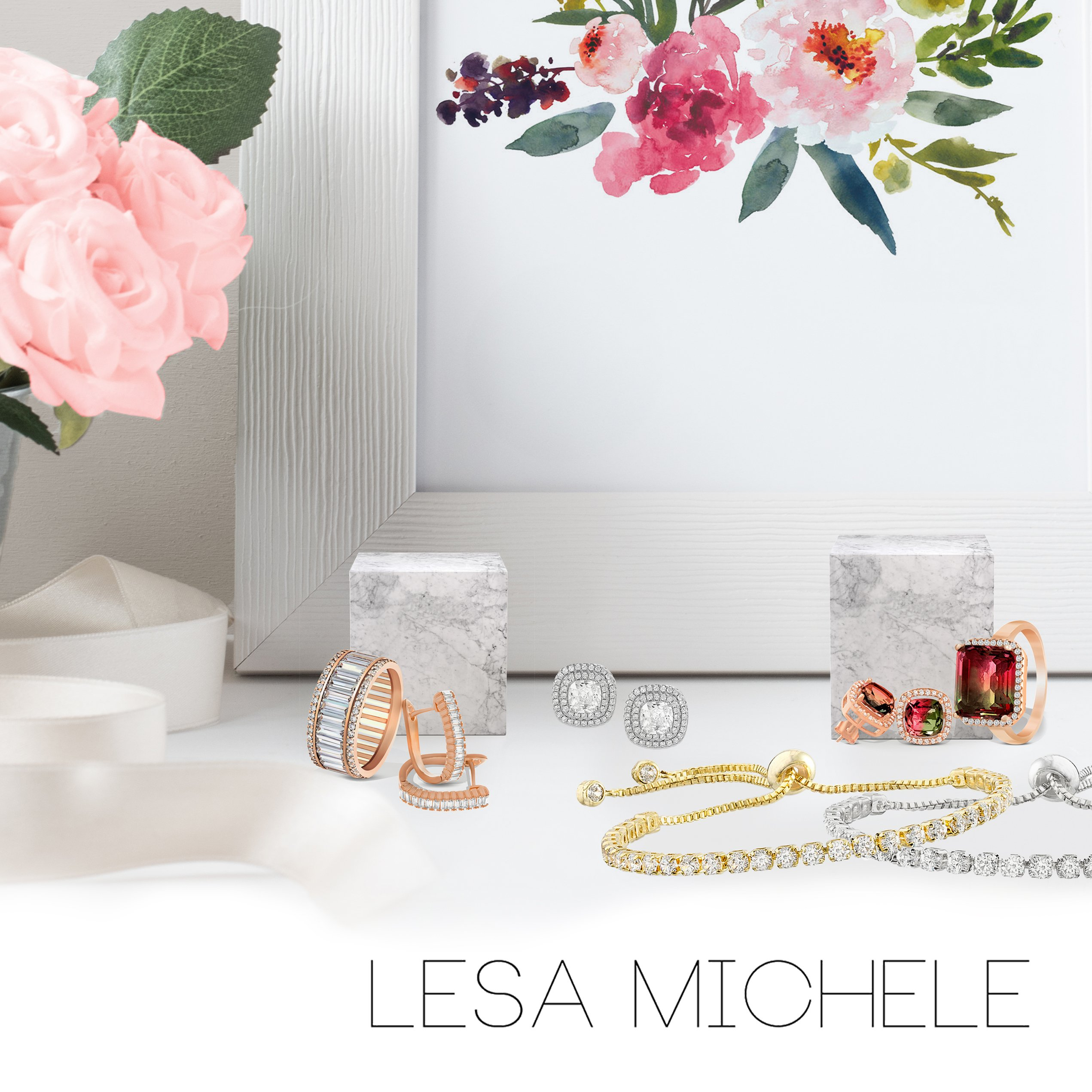 Lesa Michele Cubic Zirconia 3 pair Stud Earring Set in Sterling Silver by Lesa Michelle (Image #6)