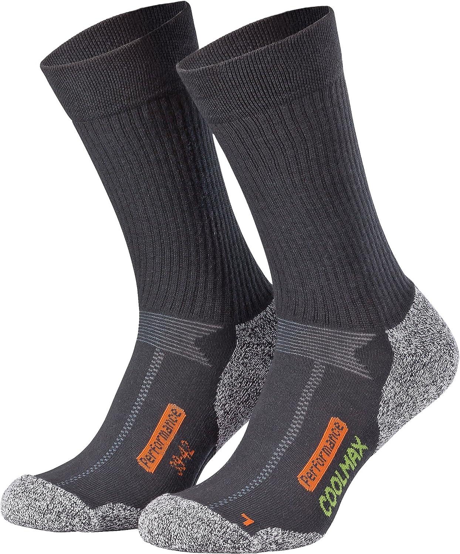 tissu Coolmax diff/érents coloris Lot de 2 paires de chaussettes techniques Piarini/® sports outdoor