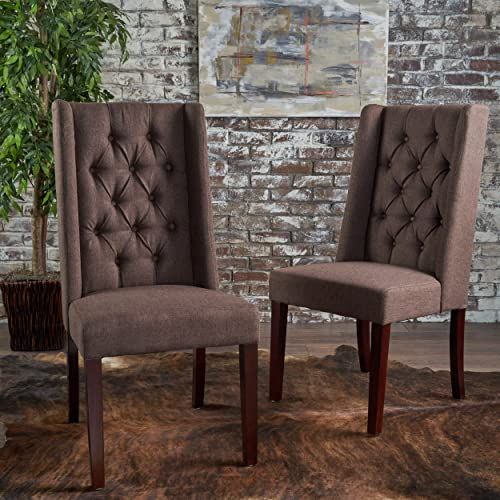 Christopher Knight Home Blythe Tufted Fabric Dining Chairs