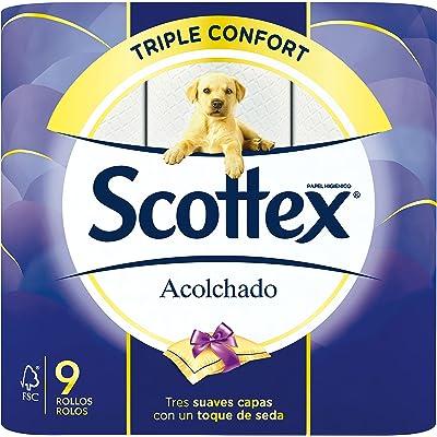 Scottex Acolchado Papel Higiénico - 9 rollos