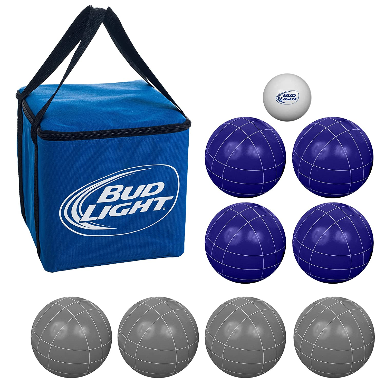 プレミアム規定サイズBud Light Bocce Ballセット – Includes持ち運び簡単ケース。