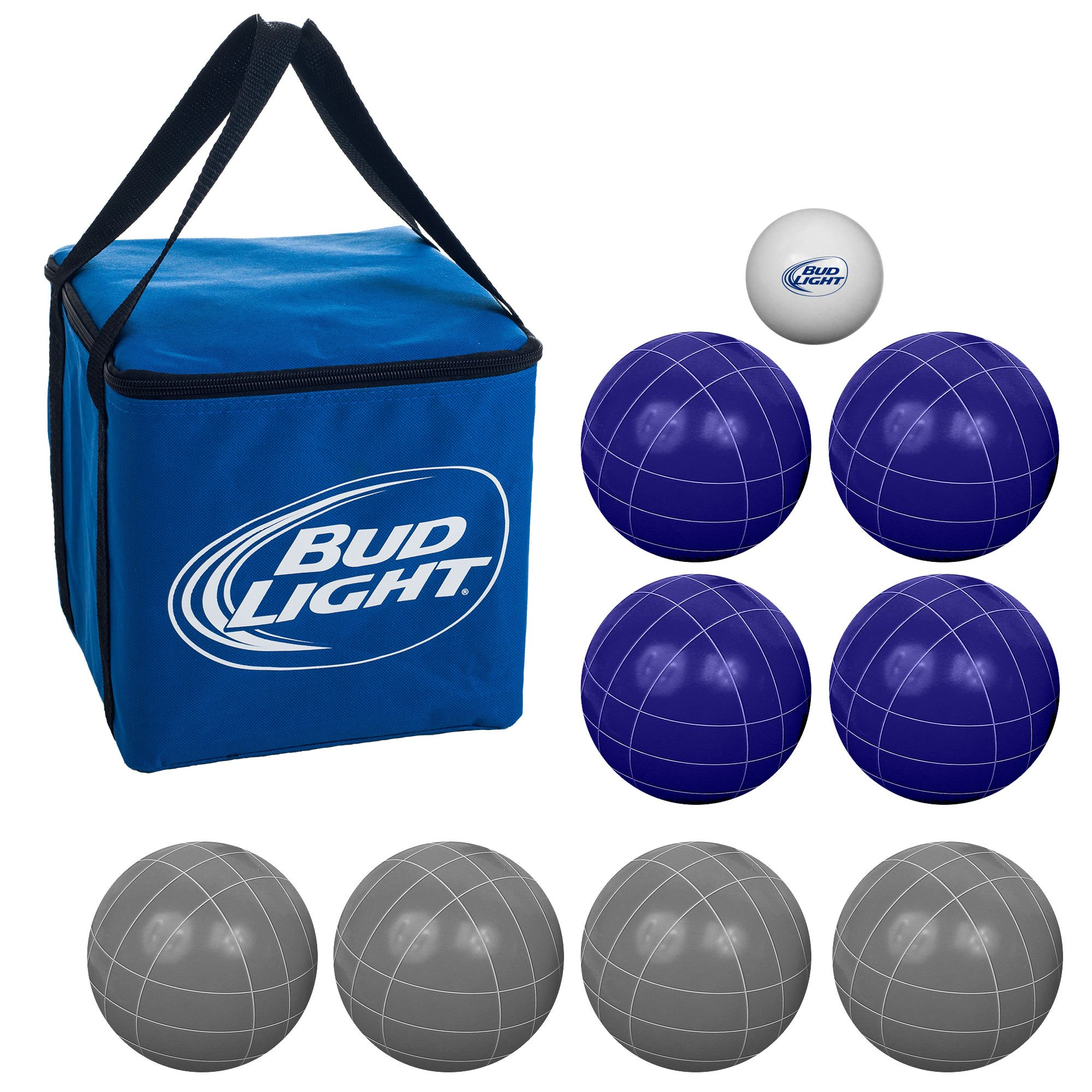 Premium Regulation Size Bud Light Bocce Ball Set - Includes Easy Carry Case!