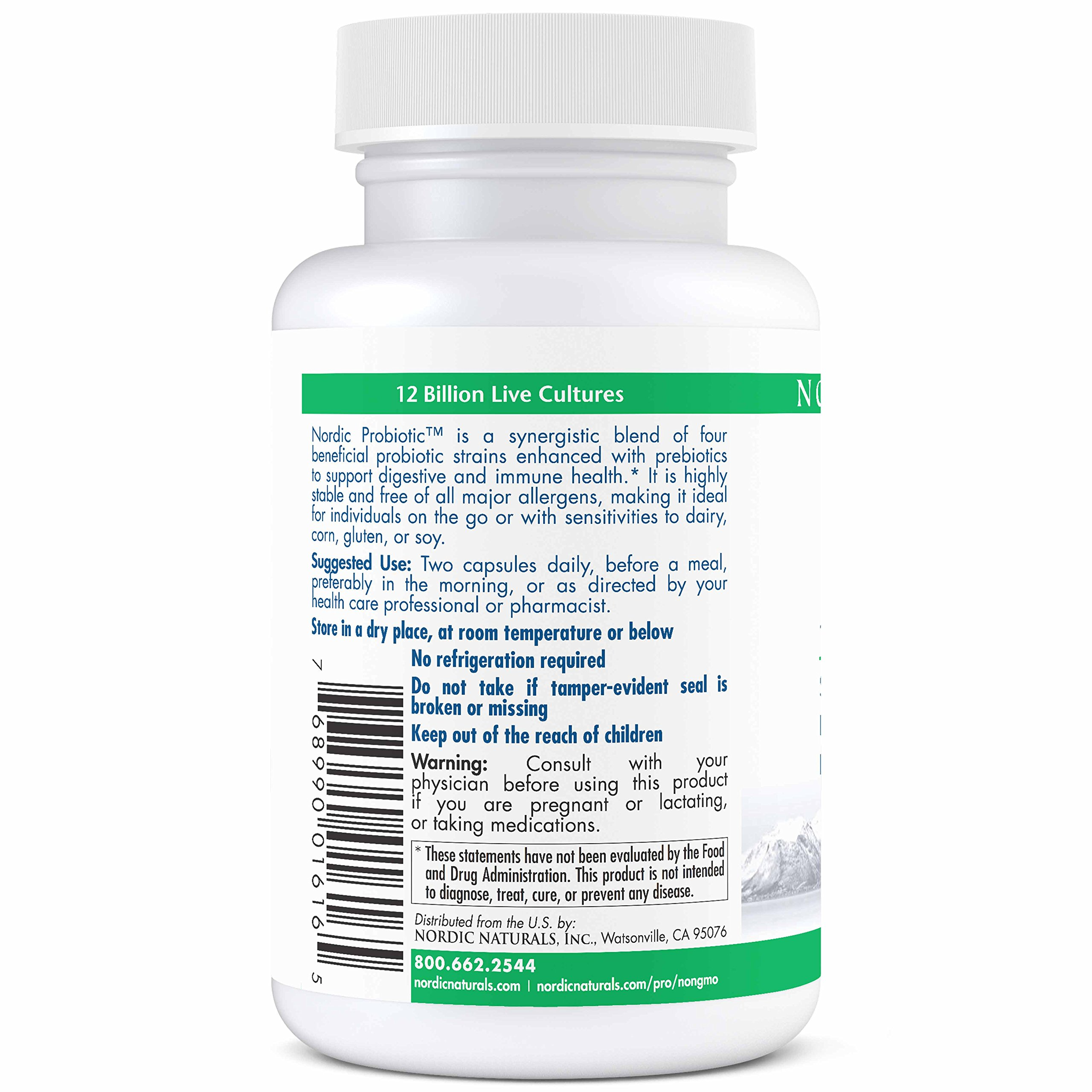 Nordic Naturals Pro Nordic Probiotic - 100% Allergen Free, Supports Digestive Health and Optimal Immune System Function - Unflavored 60 Soft Gels by Nordic Naturals (Image #4)