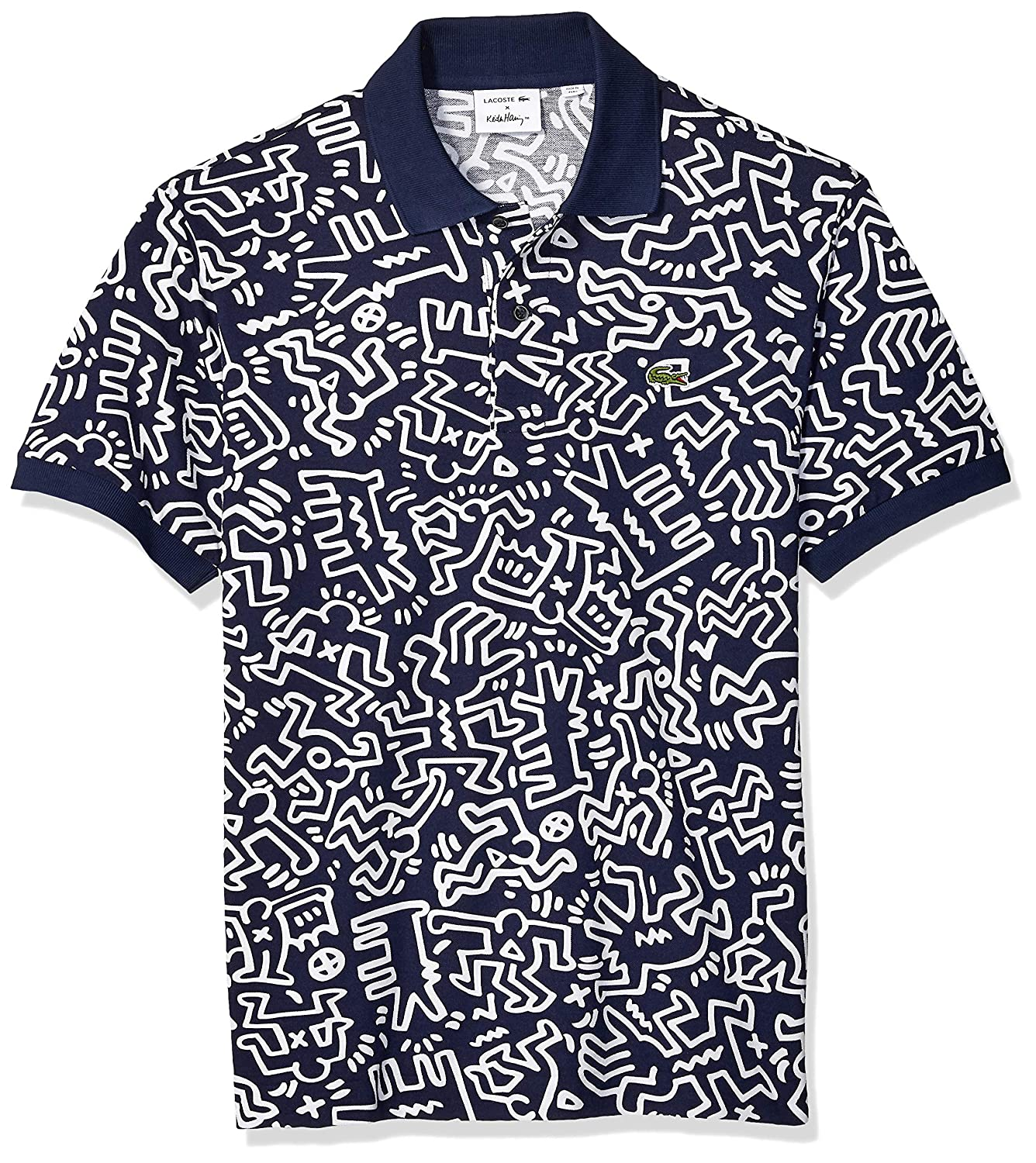 7f225ae4a9 Lacoste Men's S/S All Over Printed Mini Pique Polo Classic Fit