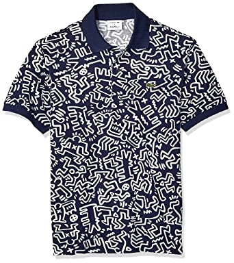 8a00f0387d2e Lacoste Men s S S All Over Printed Mini Pique Polo Classic Fit at Amazon  Men s Clothing store