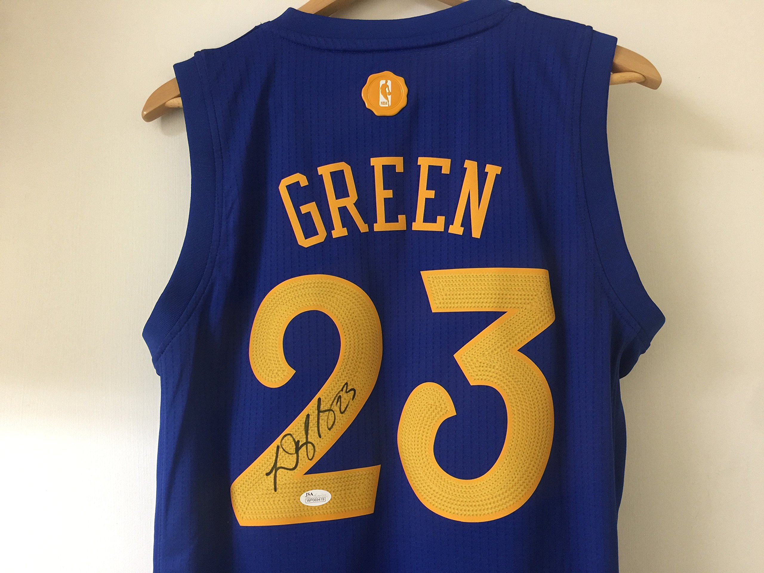 Draymond Green GSW Signed Christmas Swingman Jersey JSA WP Certified Autographed NBA Jersey by Draymond Green