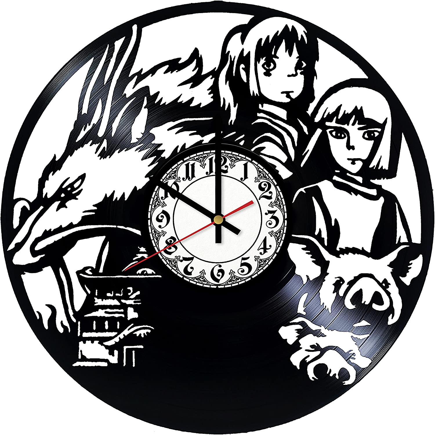 Amazon Com Spirited Away Vinyl Record Wall Clock Spirited Away Wall Clock Home Decor Spirited Away Wall Art Wall Decor Original Gift Vintage Clock Home Kitchen