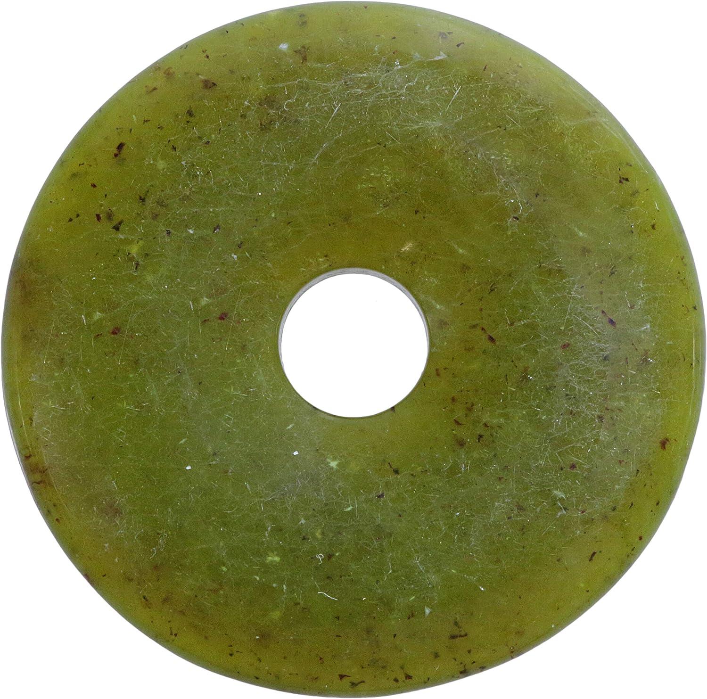 Lebensquelle Plus Serpentina, China Jade Piedras Preciosas Donut Ø 40 mm Seguidores
