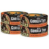 "Gorilla Tape, Black Duct Tape, 1.88"" x 35 yd, Black, (Pack of 4)"