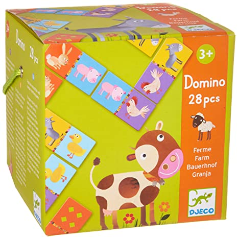 DJECO - Domino Farm Educational Game for Kids
