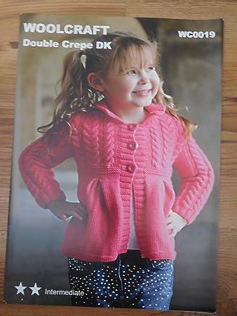 Woolcraft Girls Jacket Cardigan Wc0019 Knitting Pattern Amazon