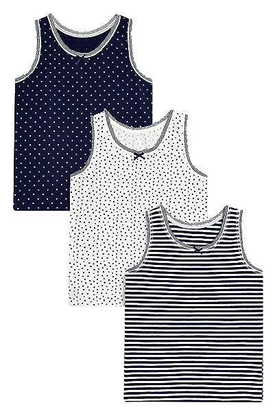 next Niñas Pack De Tres Camisetas Sin Mangas De Rayas Y Lunares (1,5