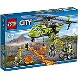 LEGO - 60123 - City - Jeu de construction  - L'hélicoptère d'Approvisionnement du Volcan