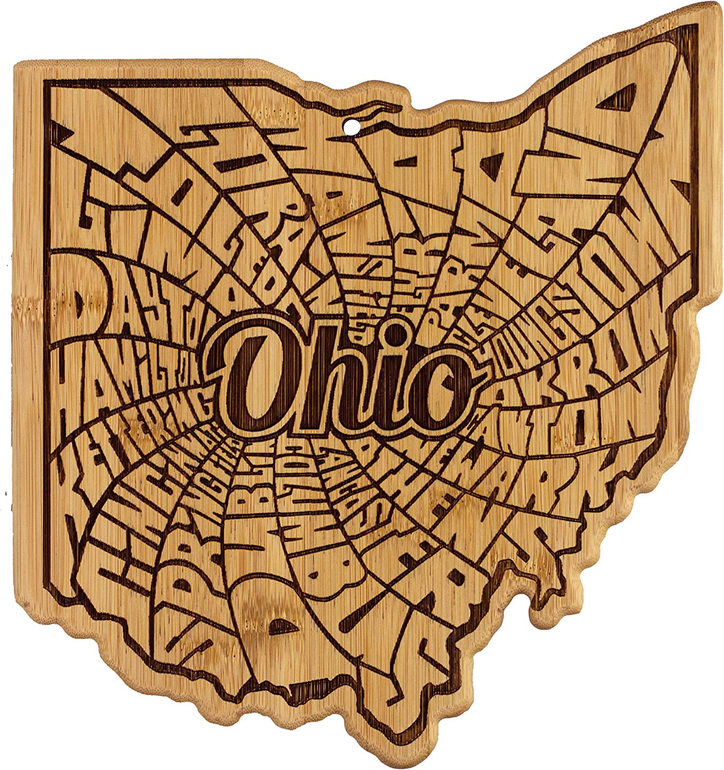 Totally Bamboo A Spin Around Ohio Bamboo Serving and Cutting Board