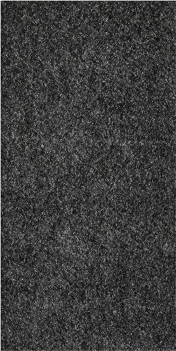 "6'x22' Smoke Indoor-Outdoor 5/16"" Thick Unbound Soft Spun Area Rug"