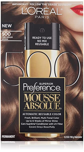 L\'Oreal Paris Superior Preference Mousse Absolue, 500 Pure Medium Brown