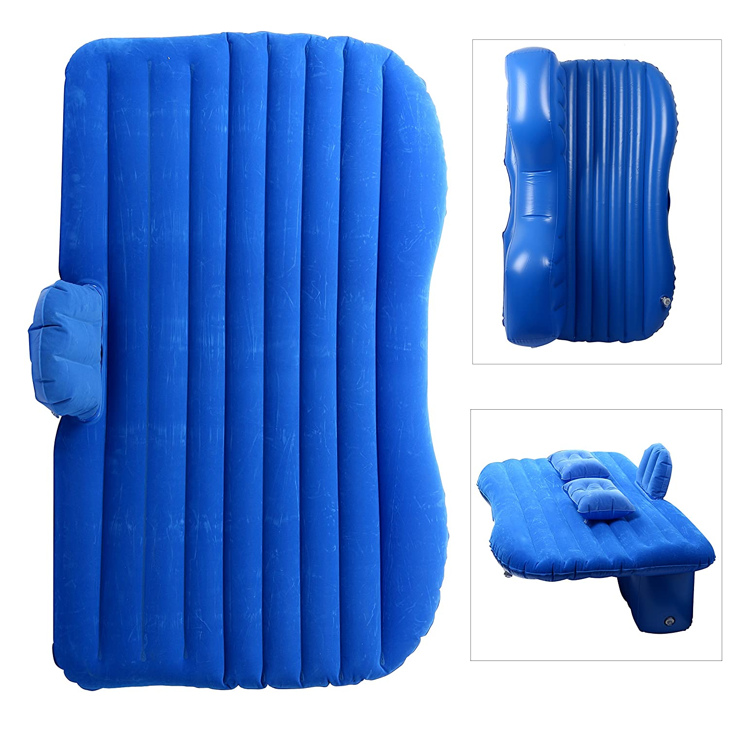 YaeTact Car Travel Inflatable Mattress Inflatable Bed Camping Universal with Two Air Pillows(Blue) Yaemart Corportation