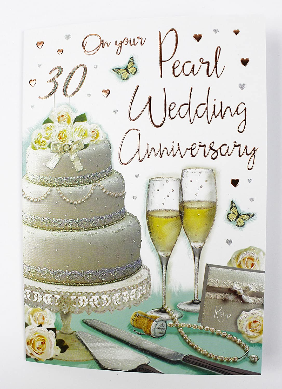 Regal Pearl Anniversary Card