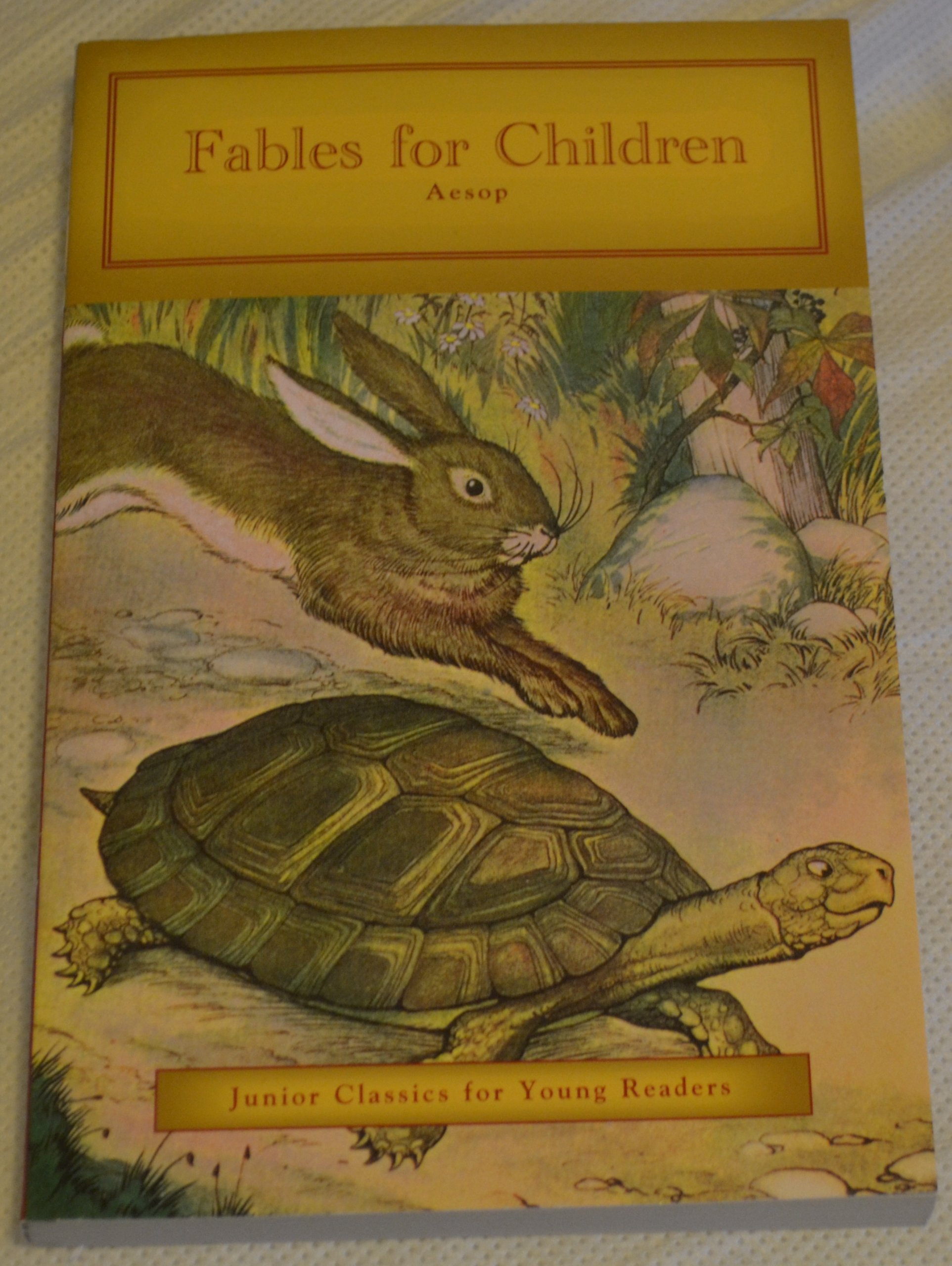 Fables for Children Aesop ((Junior Classics for Young Readers)), Kathryn  Knight