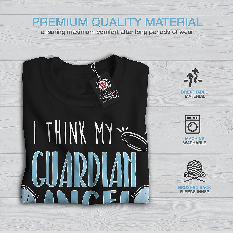 wellcoda Guardian Angel Drinks Mens Sweatshirt Joke Casual Jumper