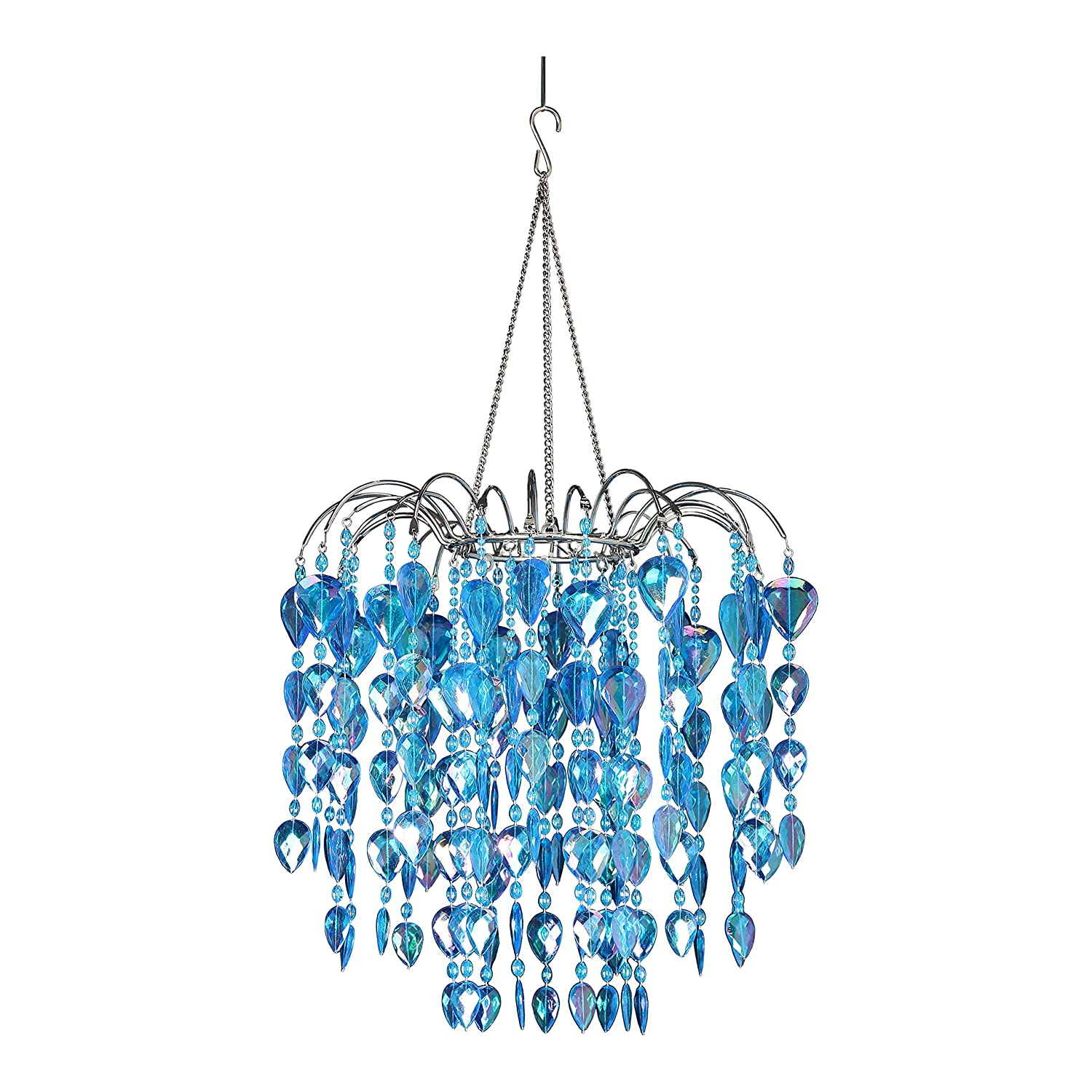 Amazon ZAPPOBZ HLLWF2 Waterfall Chandelier Blue Home & Kitchen
