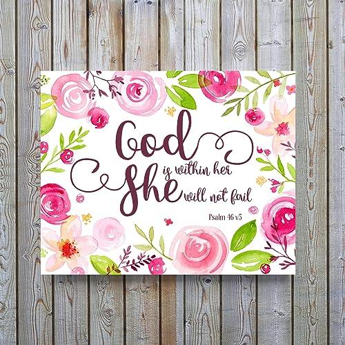 Bible Verse Poster, Chrisitan Art Prints, Christian Gifts, Biblical Quotes  Wall Art,