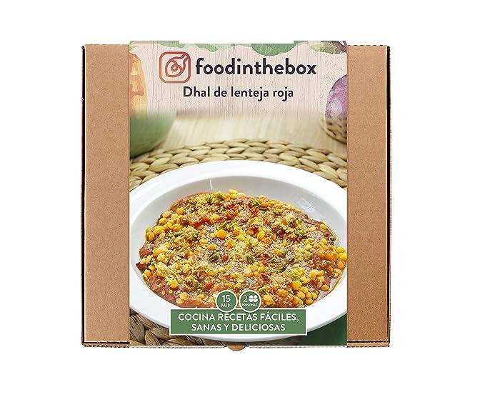 Foodinthebox Dhal de Lenteja Roja - 3 Paquetes de 1 x 780 gr - Total: