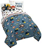 Jay Franco Potter is My Home 5 Piece Full Set-Bedding Features Harry, Ron, Hermoine, Hagrid, and Dumbledore, Blue