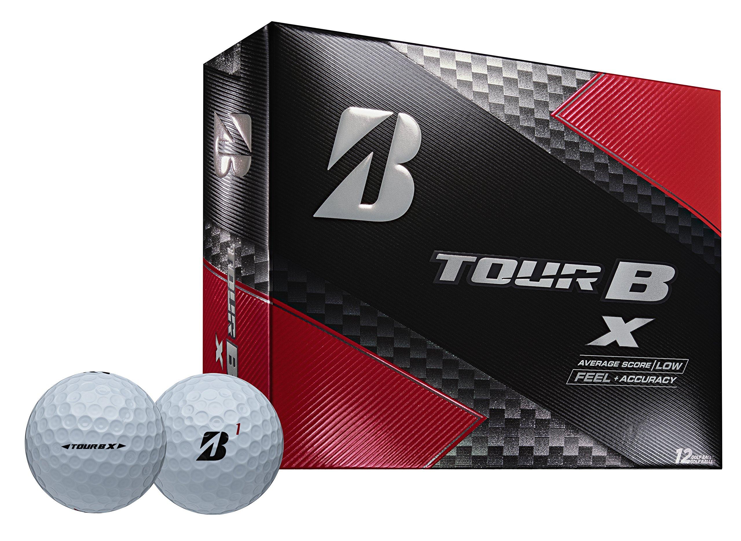Bridgestone Golf Tour B X Golf Balls, White (One Dozen)