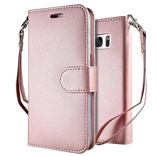 5 opinioni per Custodia Galaxy S7 Cover Rosa , Leathlux Puro Colore Modello Design Con