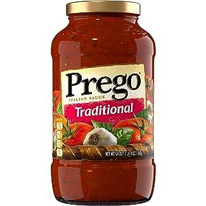 Prego Pasta Sauce, Traditional Italian Tomato Sauce, 24 Ounce Jar