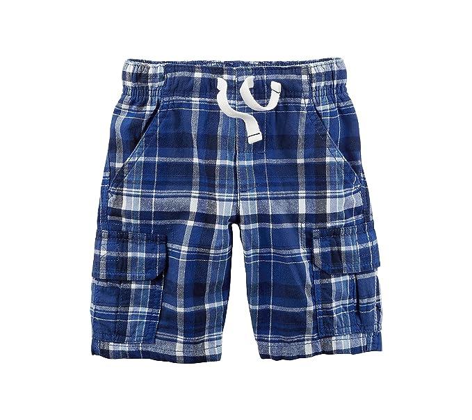 370afca3b7 Amazon.com: Carter's Boys' 2T-8 Plaid Cargo Shorts 4T: Clothing