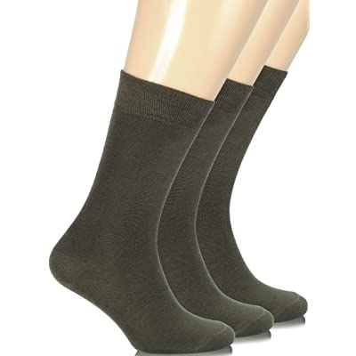 Hugh Ugoli Women's Bamboo Dress Socks Crew Business Casual, 3 Pairs, Shoe Size: 6-9/9-12 at Women's Clothing store