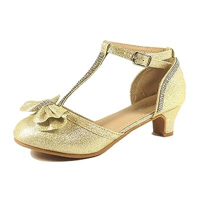Amazon.com | Nova Utopia Toddler Little Girls Low Medium Heel ...