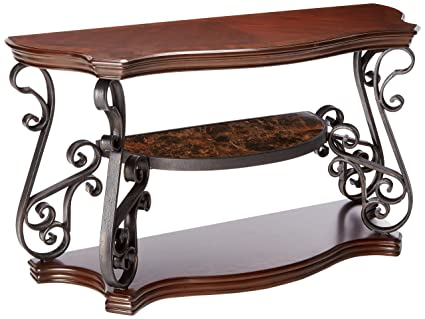 Amazon Com Coaster Home Furnishings Sofa Table With Tempered Glass