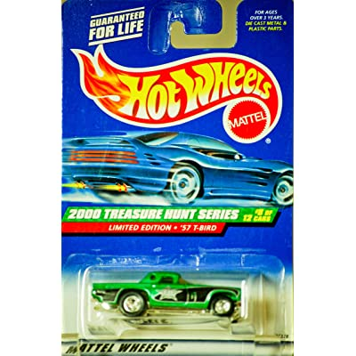 Mattel Hot Wheels 2000 Treasure Hunt Series Limited Edition 1957 '57 T-Bird (#8 of 12), Collector No. 056: Toys & Games