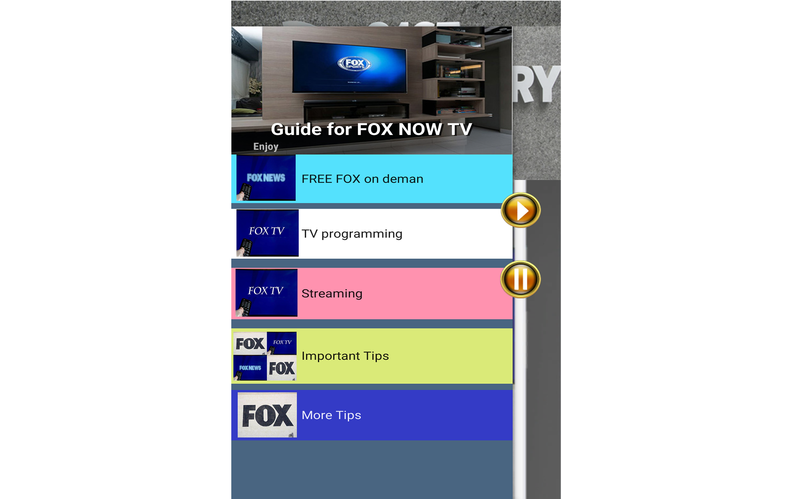 GUIDE for FOX NOW: Watch TV & Sports: Amazon.es: Appstore para Android