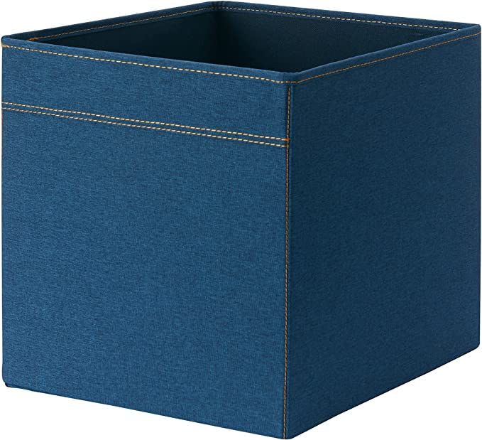 DRONA IKEA - Caja de almacenamiento plegable (33 x 38 x 33 cm), tela, azul vaquero, 33 x 38 x 33cm: Amazon.es: Hogar