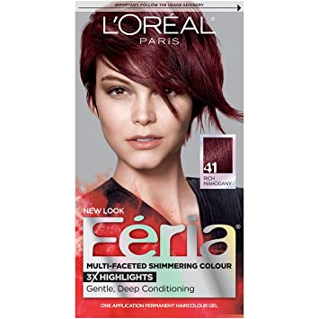 loreal paris feria multi faceted shimmering color 41 crushed garnet rich - Coloration La Rich