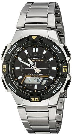2daf10c39fb Casio Men s AQS800WD-1EV Slim Solar Multi-Function Analog-Digital Watch