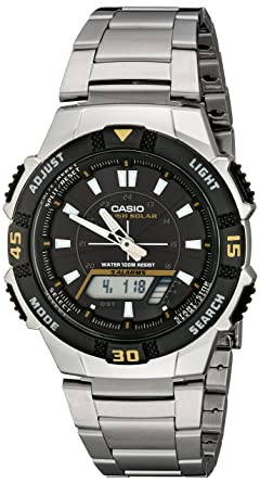 57aaed602 Casio Men's AQS800WD-1EV Slim Solar Multi-Function Analog-Digital Watch