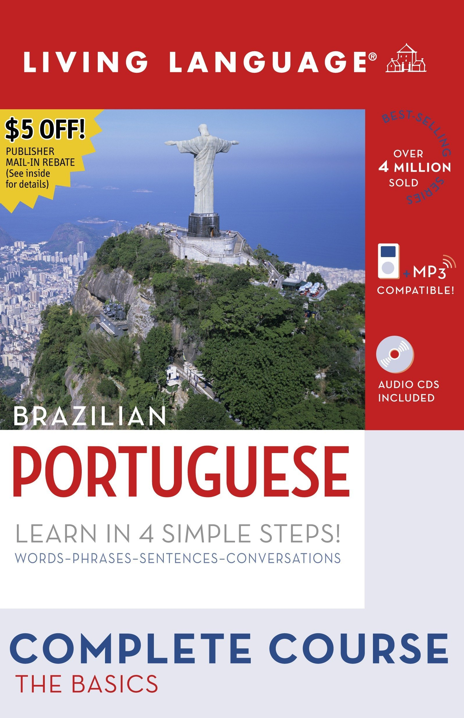 Complete Portuguese: The Basics (Book and CD Set): Includes Coursebook, 4 Audio CDs, and Learner's Dictionary (Complete Basic Courses) by Living Language
