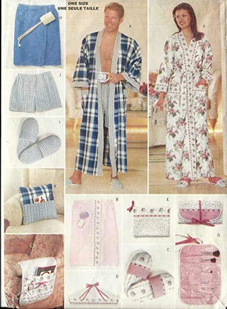 Amazon.com  Butterick Sewing Pattern 5027 His   Hers Gifts Mens ... 70b2da671